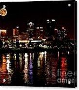 Moon Over Little Rock - No.411 Acrylic Print
