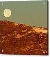 Moon Over Mount Ida Acrylic Print