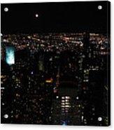 Moon Over New York City Acrylic Print