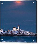 Moon Over Nubble Acrylic Print