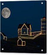 Moon Over Nubble Light Acrylic Print