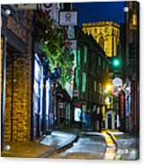 Moon Over Old City Of The York Acrylic Print