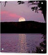 Moon Over Parks Pond Acrylic Print