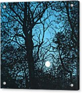 Moon Over Pittsburgh Acrylic Print
