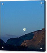 Moon Over Rattlesnake Mountain   #2785 Acrylic Print