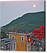 Moon Over Saint John's-nl Acrylic Print
