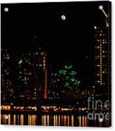 Moon Over San Diego Acrylic Print