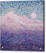 Moon Over Snowy Peaks Acrylic Print