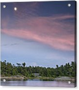 Moon Over The Bay Acrylic Print