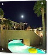 Moon Over The Casino Acrylic Print