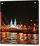 Moon Over The Danube Acrylic Print