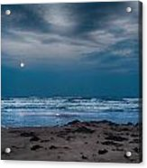 Moon Over The Gulf Acrylic Print by Tammy Smith