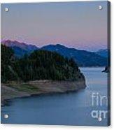 Moon Over The Palisades Acrylic Print