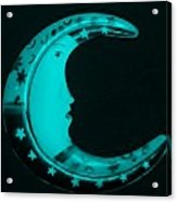 Moon Phase In Turquois Acrylic Print