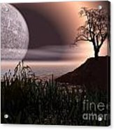 Moon Rise On Another World Acrylic Print