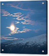 Moon Rise Over The Presidential Range Acrylic Print