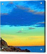 Moon Rising In New England Acrylic Print