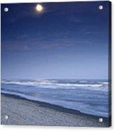 Moon Rising Over Hilton Head Acrylic Print