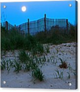 Moon Setting At Beach Plum Island Acrylic Print
