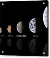 Moon Size Line Up Acrylic Print