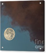 Moon Transition From Night To Day Acrylic Print