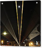 Moon Visible Between The Flyover Gap Acrylic Print