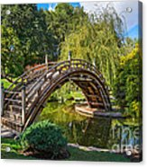Moonbridge - The Beautifully Renovated Japanese Gardens At The Huntington Library. Acrylic Print