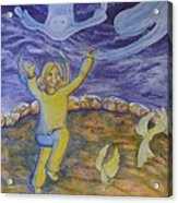 Moonchild - In Paradise Acrylic Print by Jacquelyn Roberts