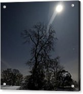 Moonlight And The Snow Acrylic Print