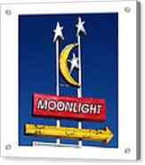 Moonlight Drive In Acrylic Print