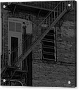 Moonlight Fire Escape Usa Near Infrared Acrylic Print