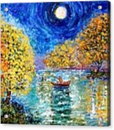 Moonlight Fishing Acrylic Print