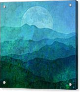 Moonlight Hills Acrylic Print