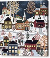 Moonlight In Vermont Acrylic Print