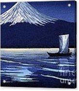 Moonlight On Fujiyama Acrylic Print