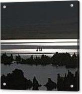 Moonlight On Mono Lake Acrylic Print