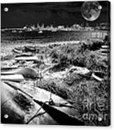 Moonlight On The Bay Acrylic Print
