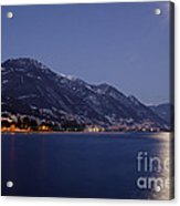 Moonlight Over A Lake Acrylic Print