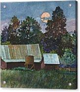 Moonlight over Caribou Acrylic Print