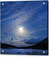 Moonlight Over Tahoe Meadows Acrylic Print