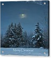 Moonlight Snow Acrylic Print