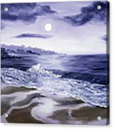 Moonlight Sonata Over Carmel Acrylic Print