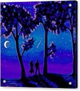 Moonlight Walk Acrylic Print
