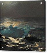 Moonlight. Wood Island Light Acrylic Print