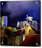 Moonlit Fort Acrylic Print