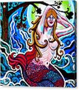Moonlit Mermaid Acrylic Print