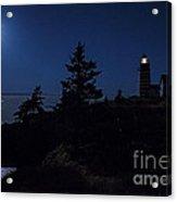 Moonlit Panorama West Quoddy Head Lighthouse Acrylic Print