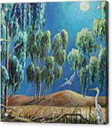 Moonlit Perch Acrylic Print