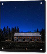 Moonlit Starscape At The Old Smokehouse Acrylic Print