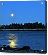 Moonrise Acadia National Park Acrylic Print